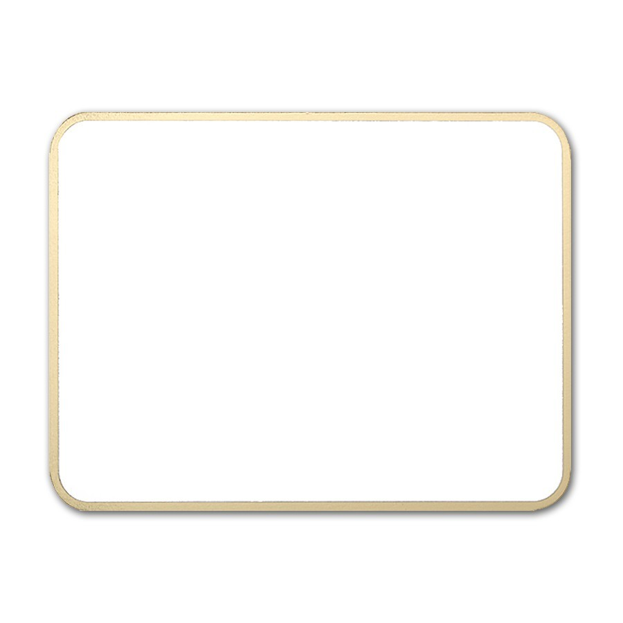 Premium Vellum Ultra White A2 Royal Border Gold Foil Card