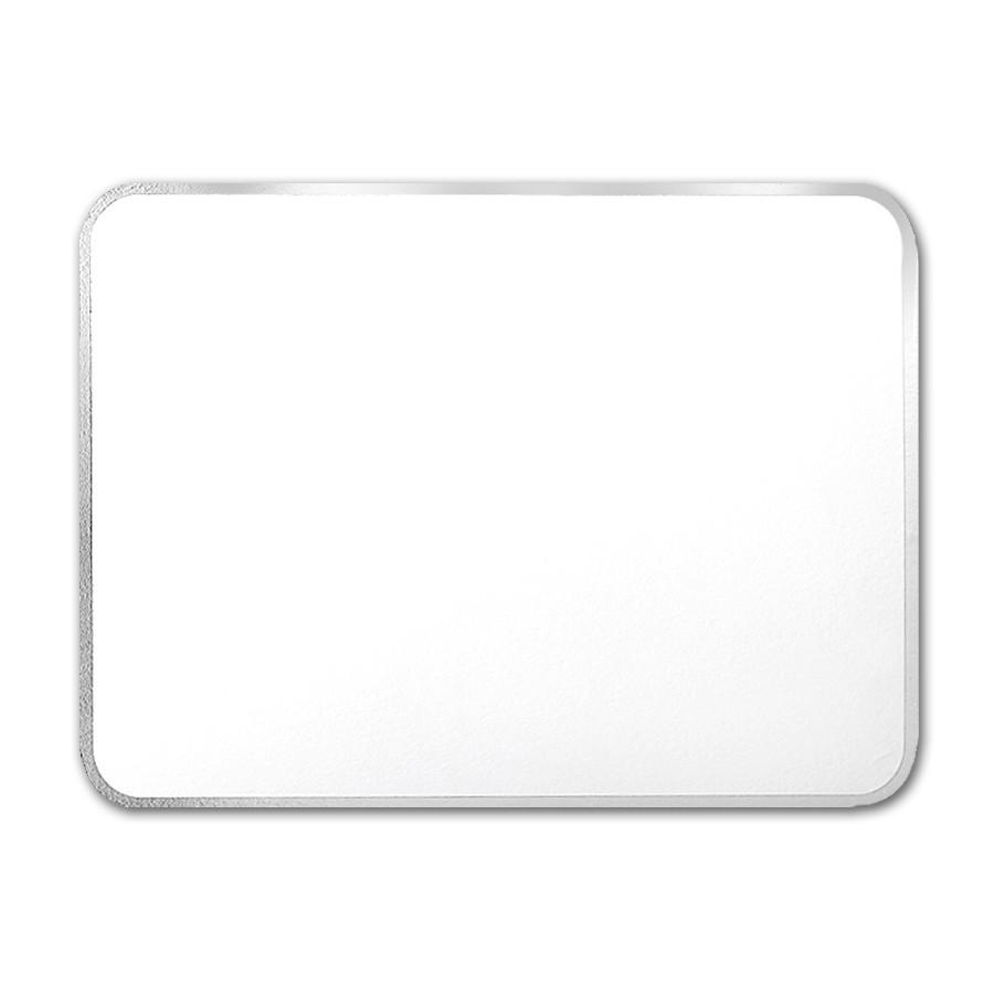 Premium Vellum Ultra White A7 Royal Border Silver Foil Card
