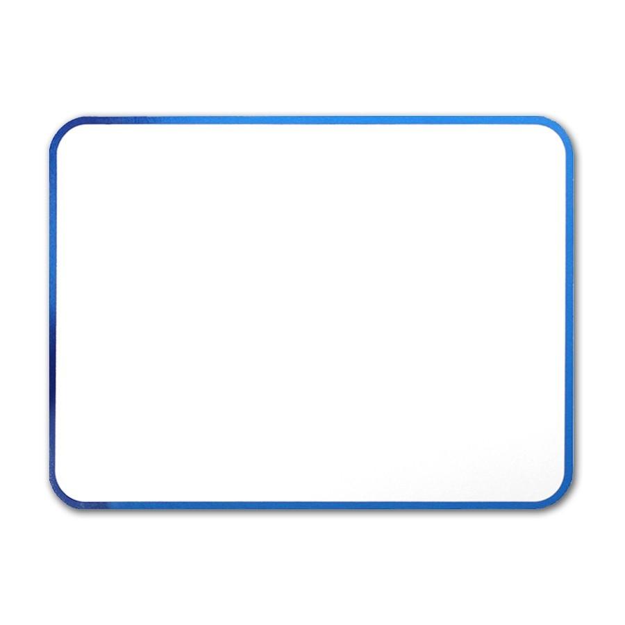 Premium Vellum Ultra White A2 Royal Border Blue Foil Card