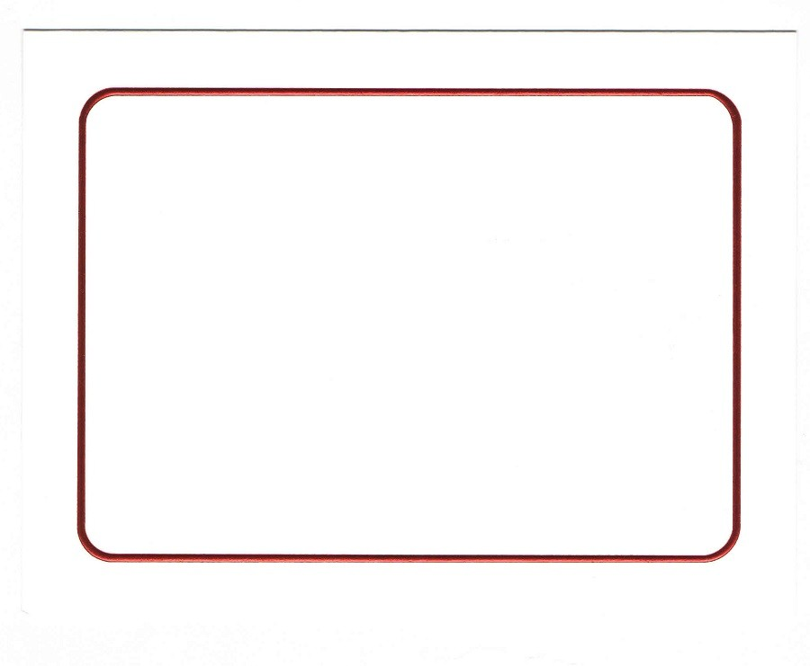 bulk pack of 250 holiday collection red border premium vellum ultra