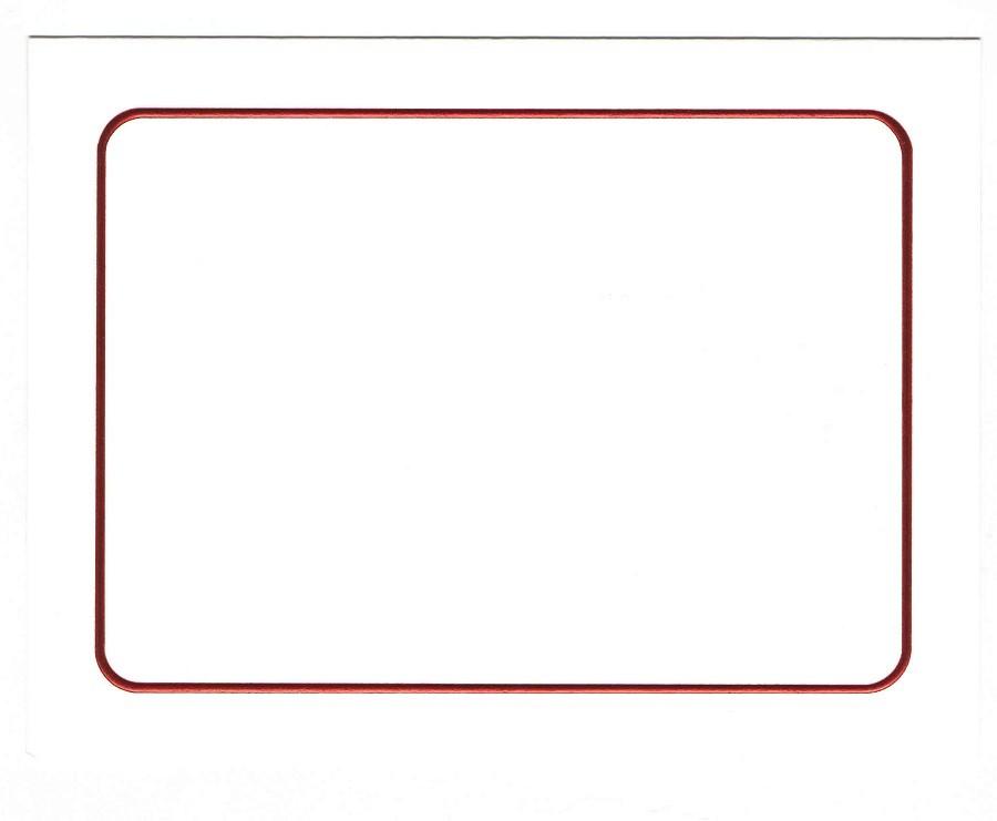 Classic Crest Solar White A7 Savannah Border Red Foil Folders