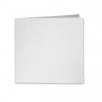 "Arturo White Square Reply Foldovers (5SQLC) 97# Cover (5 1/4"" x 10 1/2"" open size) Bulk Pack of 100"