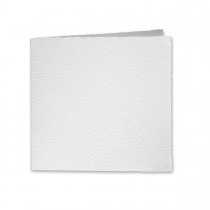 "Arturo White Square Invitation Foldovers (6SQLC) 97# Cover (6 1/4"" x 12 1/2"" open size) Pack of 50"