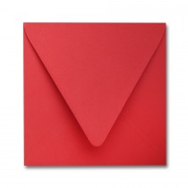 "James Cropper Colorplan Vermillion 6 1/2"" Square Euro Flap Envelope"