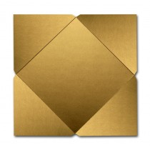 Gruppo Cordenons Stardream Antique Gold 7 1/4 Square 105# Cover Pointed Flap Pouchettes