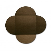 Gruppo Cordenons Stardream Bronze 6 1/4 Square 105# Cover Rounded Flap Pouchettes