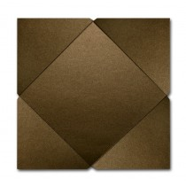 Gruppo Cordenons Stardream Bronze 7 1/4 Square 105# Cover Pointed Flap Pouchettes