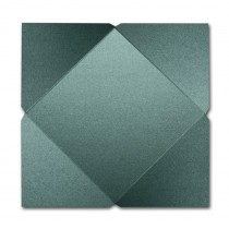 Gruppo Cordenons Stardream Emerald 7 1/4 Square 105# Cover Pointed Flap Pouchettes
