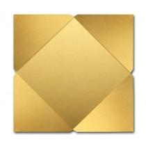 Gruppo Cordenons Stardream Gold 6 1/4 Square 105# Cover Pointed Flap Pouchettes