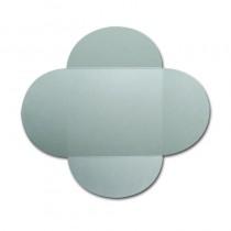 Gruppo Cordenons Stardream Aquamarine 6 1/4 Square 105# Cover Rounded Flap Pouchettes