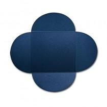 Gruppo Cordenons Stardream Lapis Lazuli 6 1/4 Square 105# Cover Rounded Flap Pouchettes
