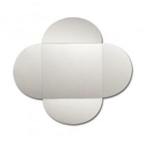 Gruppo Cordenons Stardream Quartz 6 1/4 Square 105# Cover Rounded Flap Pouchettes
