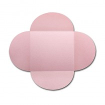Gruppo Cordenons Stardream Rose 6 1/4 Square 105# Cover Rounded Flap Pouchettes