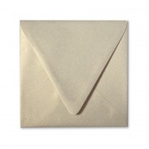 Curious Metallics Gold Leaf 6.5 Square Euro Flap Envelopes pack of 50