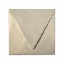 Curious Metallics Gold Leaf 6.5 Square Euro Flap Envelopes pack of 50