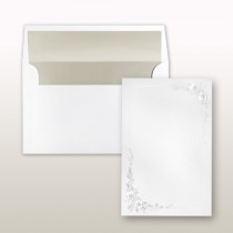 Pearl Stamped Rose Frame On Extra Large Card Invitation