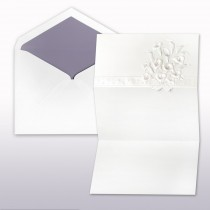 Passion And Pearl Printed .Stamped Calla Lily Fan Fold Invitation