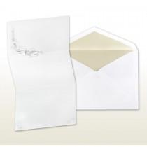 Pearl Stamped Seashells Fan Fold Invitation