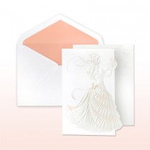 Quince Anos, Pink And Pearl Printed/Stamped Young Girl With Roses Fan Fold Invitation