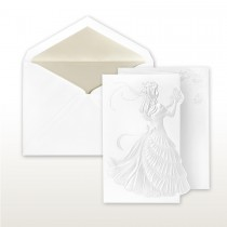 Quince Anos, Pearl Stamped Young Girl With Roses Fan Fold Invitation