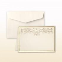 Matte Gold Stamped Filigree With Matte Gold Border Informal