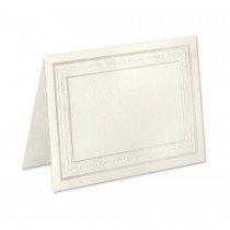 Boutique Vellum Ecru 4 Bar Wedgewood Border Pearl Foil Folder