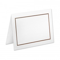 Boutique Vellum Super White 4 Bar Adelaide Border Pearl Foil/Chocolate Printed Folder