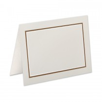 Boutique Vellum Ecru 4 Bar Adelaide Border Pearl Foil/Chocolate Printed Folder