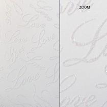 Elegant Glitter Cardtock Love letters 12 x 12 81# Cover Sheets