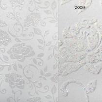 Elegant Glitter Cardtock Pleasant Peonies 12 x 12 81# Cover Sheets