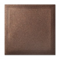 Gruppo Cordenons Stardream Bronze 7 1/4 Square Imperial Embossed Border Card