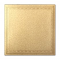 Gruppo Cordenons Stardream Gold 7 1/4 Square Imperial Embossed Border Card