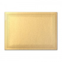 Gruppo Cordenons Stardream Gold A7 Imperial Embossed Border Card