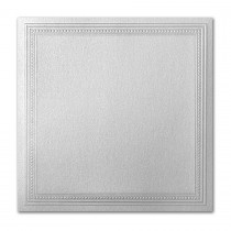 Gruppo Cordenons Stardream Silver 7 1/4 Square Imperial Embossed Border Card