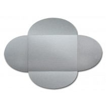 Gruppo Cordenons Stardream Silver A8 105# Cover Rounded Flap Pouchettes