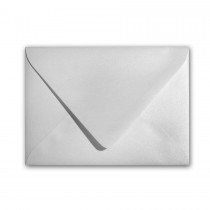 Curious Metallics Ice Silver 80# Text A9 Euro Flap Envelopes Bulk Pack of 250