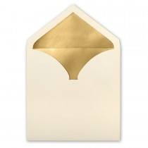 Natural Royal Pointed Flap Inner Ungummed Envelope With Glossy Gold Lining