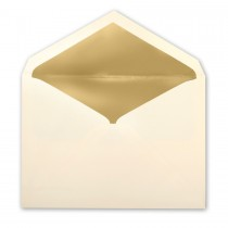 Natural Tiffany Pointed Flap Inner Ungummed Envelope With Glossy Gold Lining
