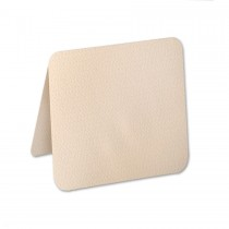 "Eames Furniture 80# Cover Eames Natural White 6 1/4"" Square Round Corner Folders Pack of 50"