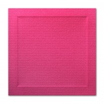 Neenah Eames Furniture India Pink 6 1/4 Square Bevel Panel Card