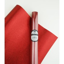 "Glitter Gift Wrap Red 30"" x 36""  Roll"