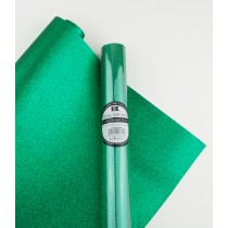 "Glitter Gift Wrap Green 30"" x 36""  Roll"