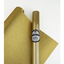 "Glitter Gift Wrap Gold 30"" x 36""  Roll"