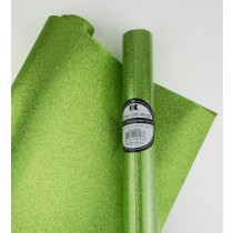 "Glitter Gift Wrap Olive Green 30"" x 36""  Roll"