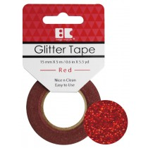 Glitter Tape Red 15mm x 5m  Roll