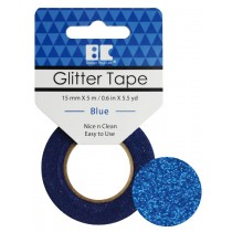 Glitter Tape Blue 15mm x 5m  Roll