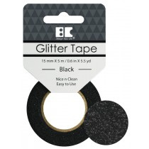 Glitter Tape Black 15mm x 5m  Roll
