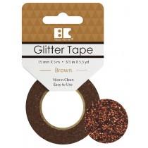 Glitter Tape Brown 15mm x 5m  Roll