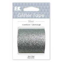 Large Glitter Tape Silver 50mm x 5m  Roll