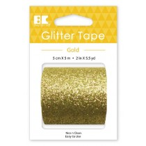 Large Glitter Tape Gold 50mm x 5m  Roll